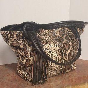 Bacciani Snake Print Oversized Tote Bag